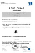 Zertifikat BAU-ZERT